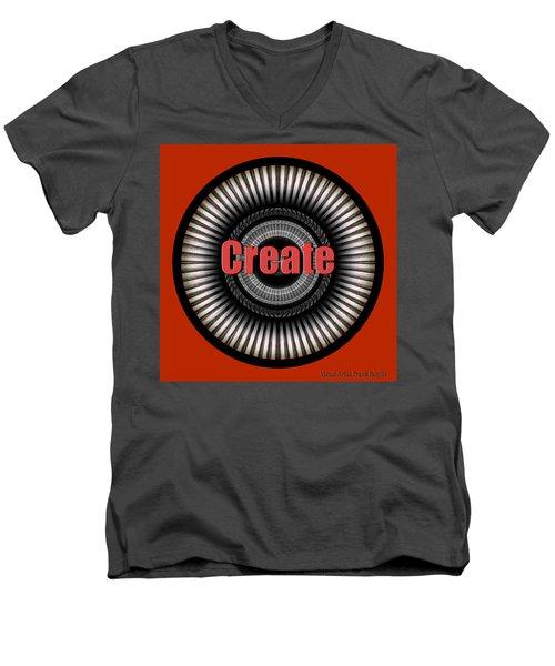 Create Men's V-Neck T-Shirt