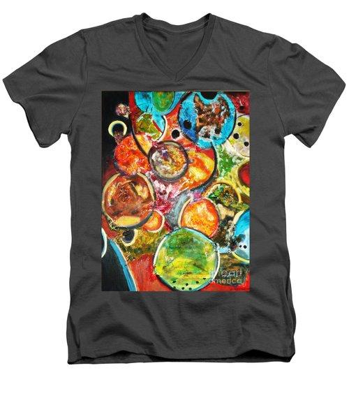 Creative Men's V-Neck T-Shirt