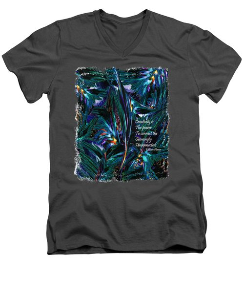 Creativity Is Quote William Plomer  Men's V-Neck T-Shirt by Michele Avanti