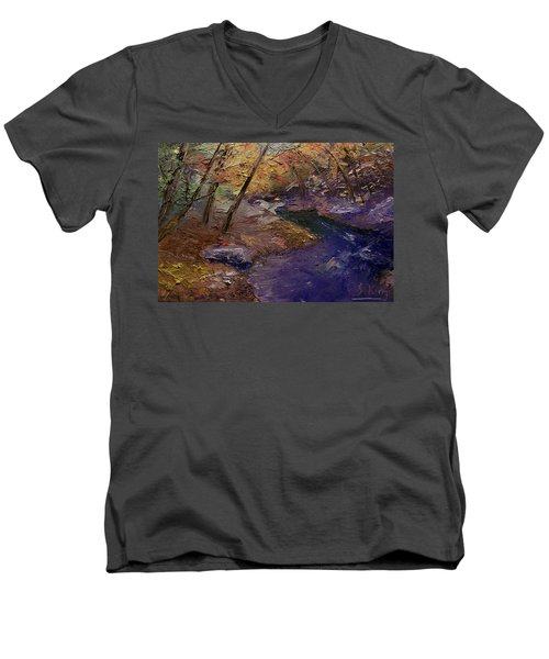 Creek Bank Men's V-Neck T-Shirt