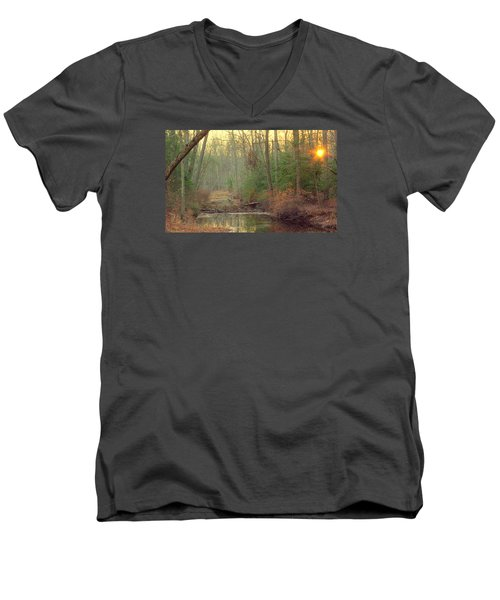 Creek Bed Men's V-Neck T-Shirt