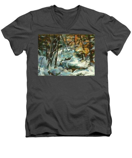 Creek In The Cold Men's V-Neck T-Shirt
