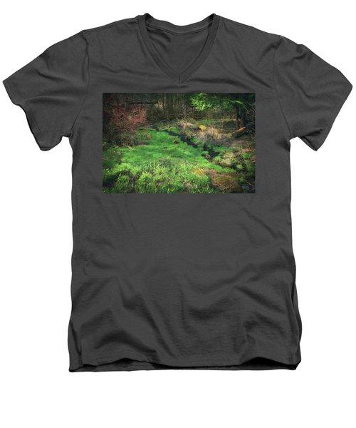 Creek - Spring At Retzer Nature Center Men's V-Neck T-Shirt by Jennifer Rondinelli Reilly - Fine Art Photography