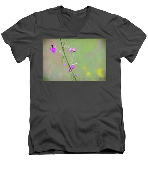 Creeping Thistle Men's V-Neck T-Shirt