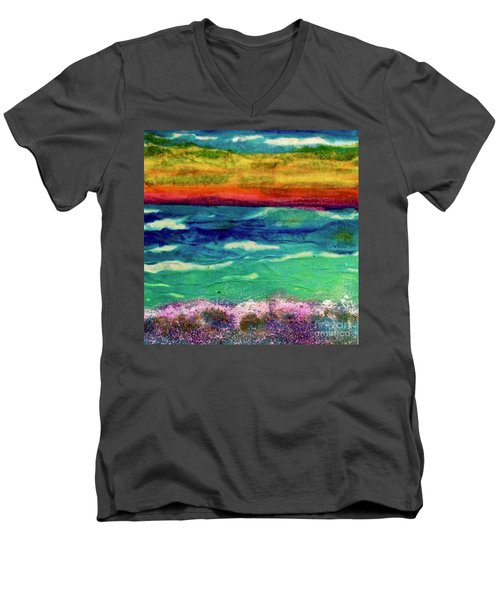 Crepe Paper Sunset Men's V-Neck T-Shirt