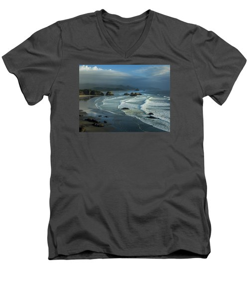 Crescent Beach And Surf Men's V-Neck T-Shirt