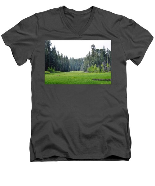 Men's V-Neck T-Shirt featuring the photograph Crescent Meadow by Kyle Hanson
