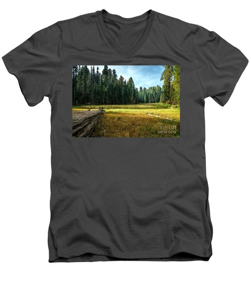 Crescent Meadows Sequoia Np Men's V-Neck T-Shirt