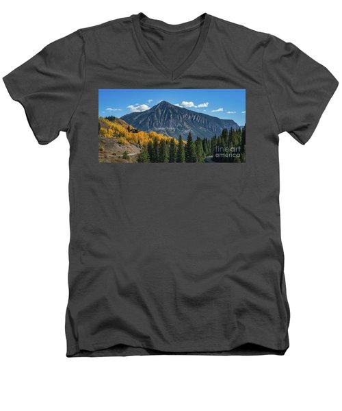 Crested Butte Mountain Men's V-Neck T-Shirt