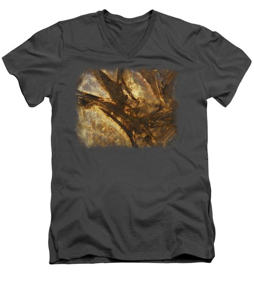 Crevasses Men's V-Neck T-Shirt by Sami Tiainen