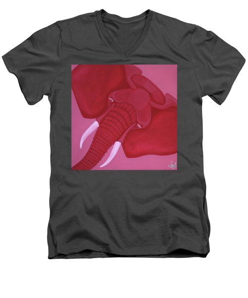 Crimson Elephant Men's V-Neck T-Shirt