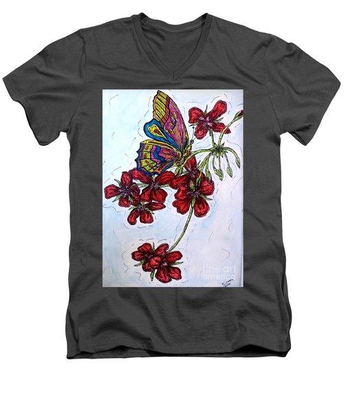 Crimson Fancy Men's V-Neck T-Shirt