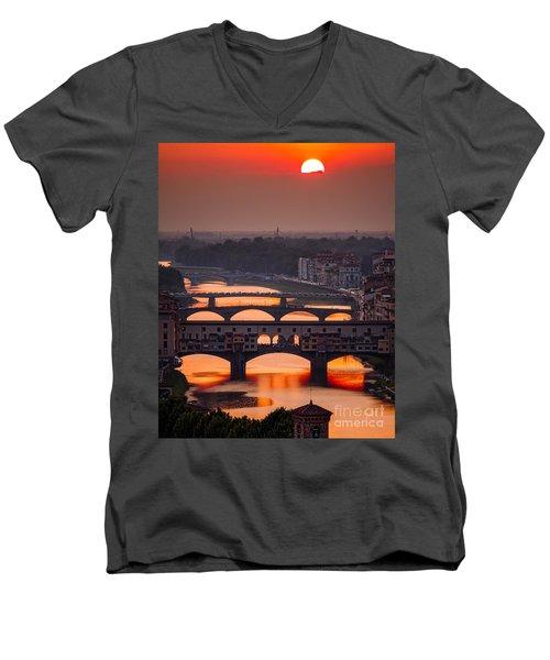 Crimson River Men's V-Neck T-Shirt