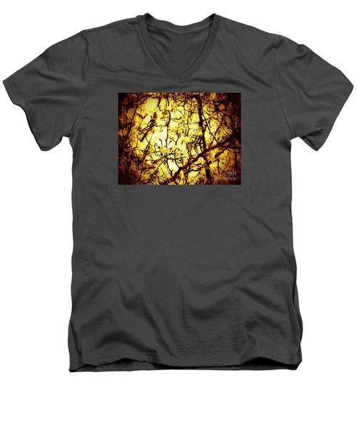 Crip L Men's V-Neck T-Shirt by Robin Coaker