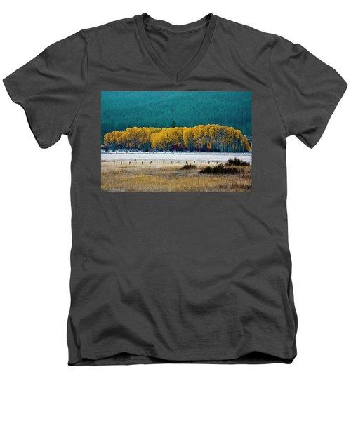 Crisp Aspen Morning Men's V-Neck T-Shirt