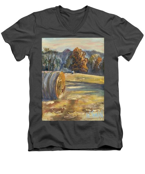 Crisp Air And Sunset Kisses Men's V-Neck T-Shirt