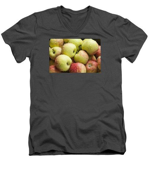 Crisp Wild Apples Men's V-Neck T-Shirt
