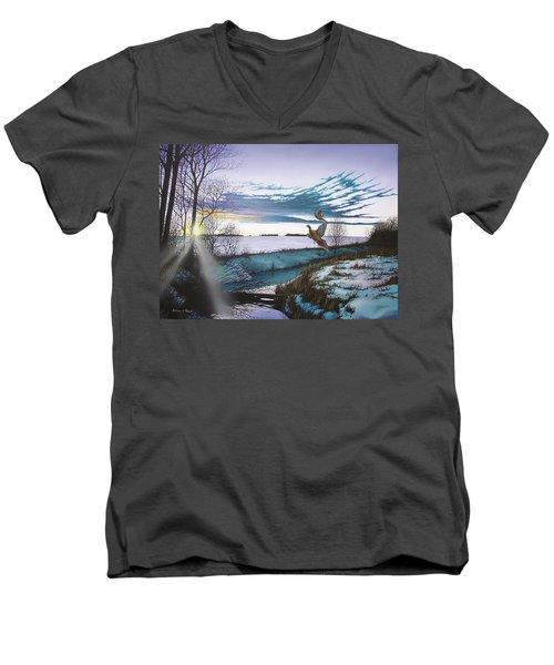 Crisp Winter Light Men's V-Neck T-Shirt