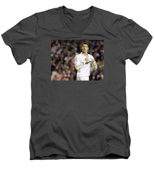 Cristiano Ronaldo 4 Men's V-Neck T-Shirt