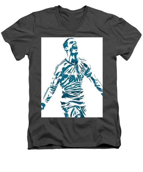 Cristiano Ronaldo Real Madrid Pixel Art 4 Men's V-Neck T-Shirt