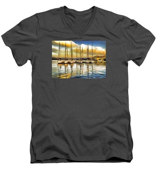 Croatia Marina Men's V-Neck T-Shirt