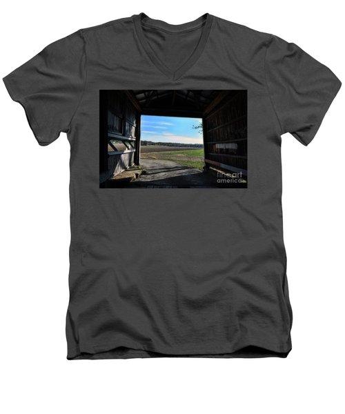 Crooks Bridge Men's V-Neck T-Shirt by Joanne Coyle