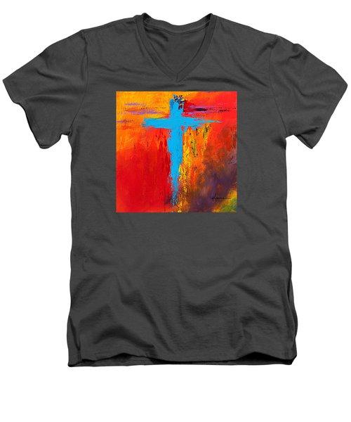 Cross 3 Men's V-Neck T-Shirt by Kume Bryant