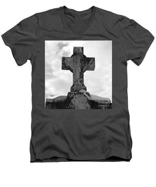 Cross Men's V-Neck T-Shirt