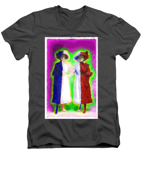 Cross Dressers Men's V-Neck T-Shirt