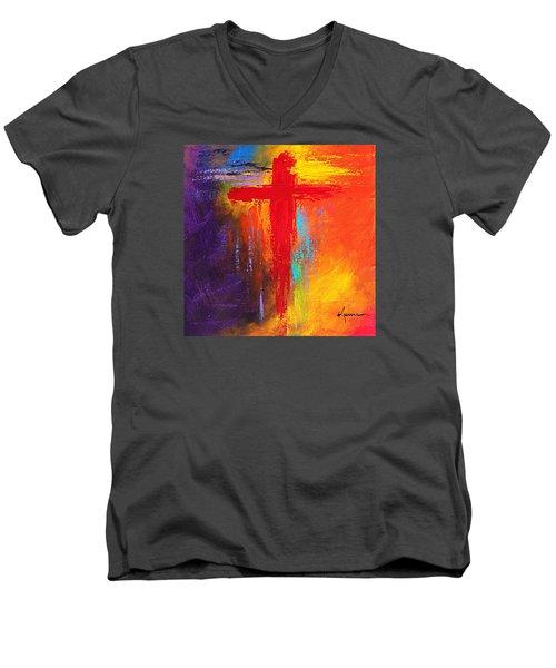 Cross Men's V-Neck T-Shirt