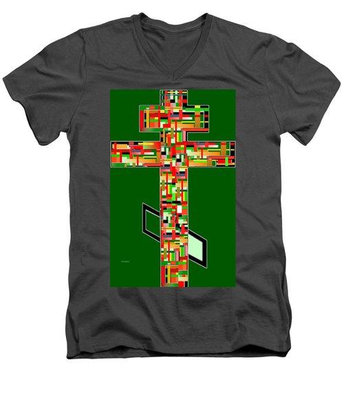 Cross No.2 Men's V-Neck T-Shirt