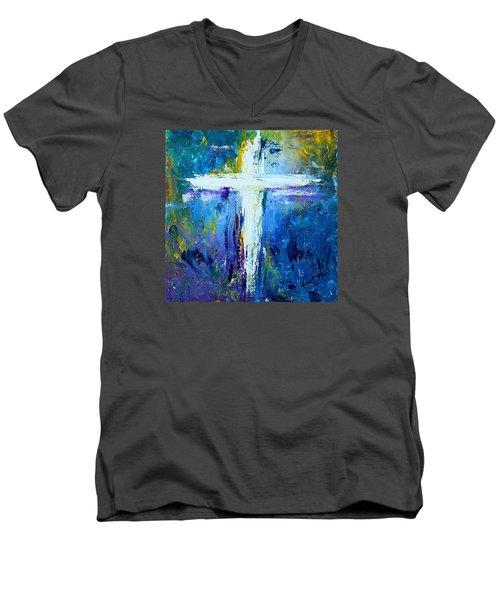 Cross - Painting #4 Men's V-Neck T-Shirt by Kume Bryant