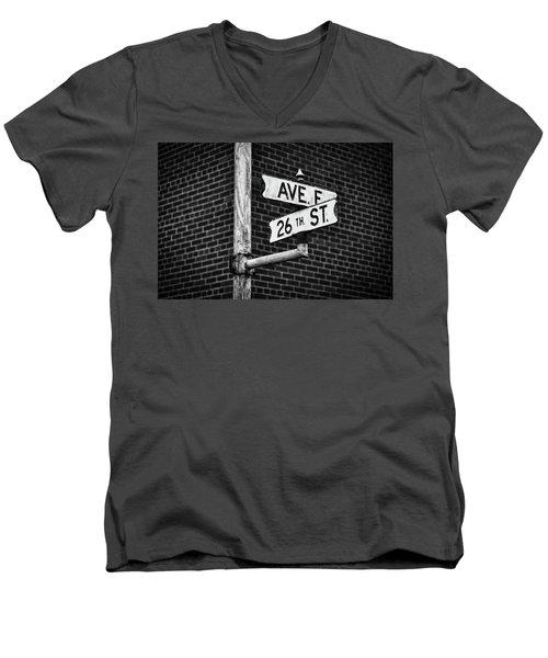 Cross Roads Men's V-Neck T-Shirt by Darren White