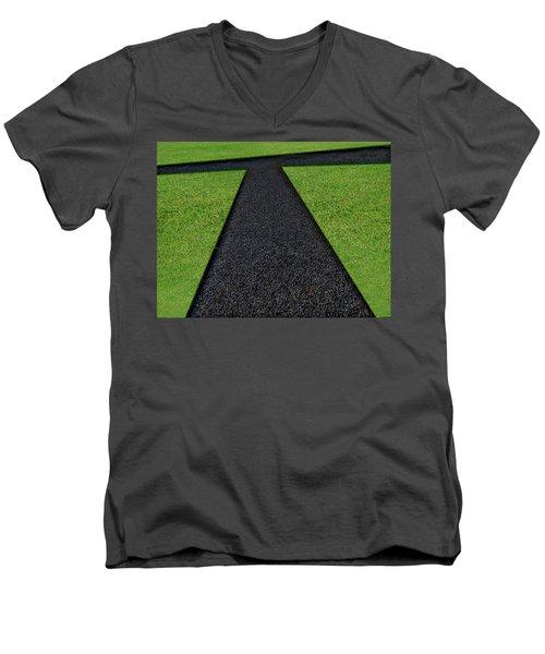 Men's V-Neck T-Shirt featuring the photograph Cross Roads by Paul Wear