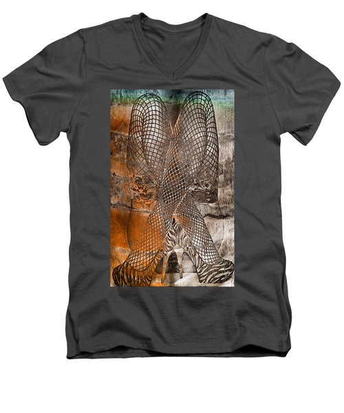 Cross Walk Men's V-Neck T-Shirt by Greg Sharpe
