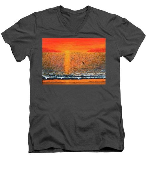Crossing Over Men's V-Neck T-Shirt