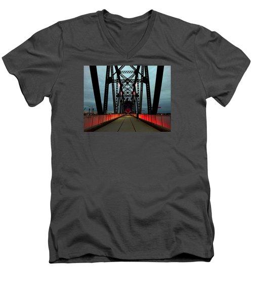 Crossing The Bridge Men's V-Neck T-Shirt