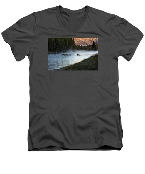 Crossing The River Men's V-Neck T-Shirt