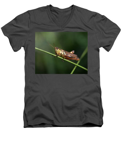 Crossroad Men's V-Neck T-Shirt by Joseph Skompski