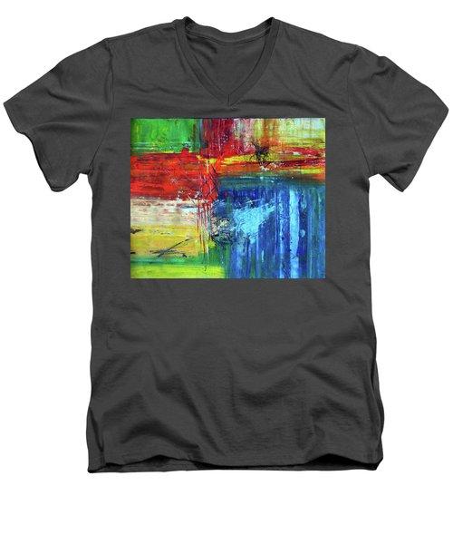 Crossroads Men's V-Neck T-Shirt by Everette McMahan jr