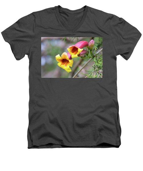 Crossvines  Men's V-Neck T-Shirt