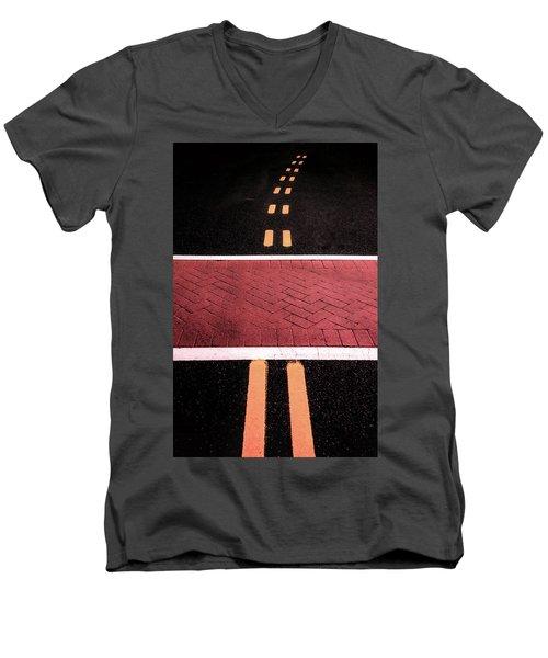 Crosswalk Conversion Of Traffic Lines Men's V-Neck T-Shirt