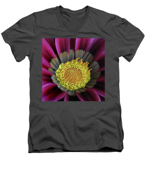 Men's V-Neck T-Shirt featuring the photograph Crown Of Pollen by David and Carol Kelly