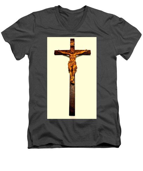 Crucifix Men's V-Neck T-Shirt