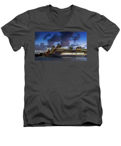 Cruise Ship Sydney Harbour Men's V-Neck T-Shirt