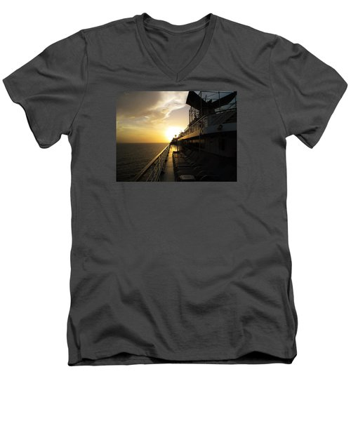 Cruisin' At Sunset Men's V-Neck T-Shirt