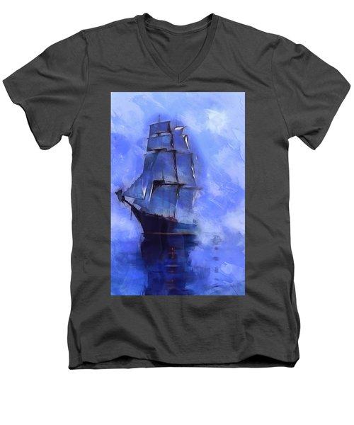 Cruising The Open Seas Men's V-Neck T-Shirt