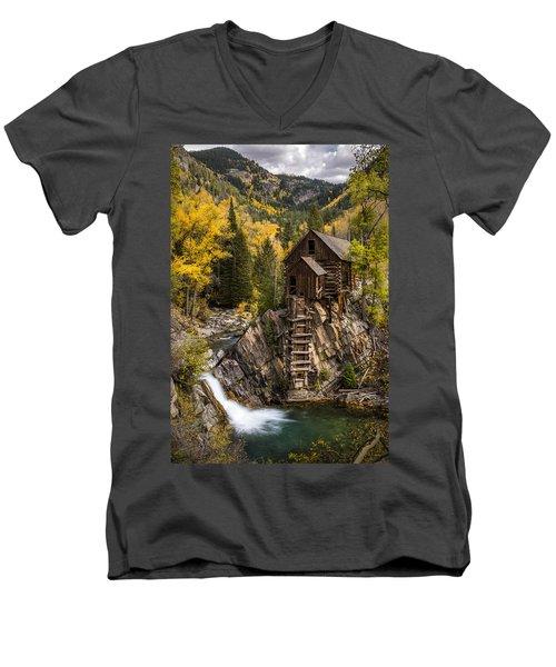 Crystal Autumn Men's V-Neck T-Shirt