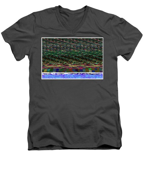 Crystal Balls And The Glitch For The Ditch Men's V-Neck T-Shirt