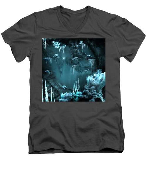 Crystal Cave Mystery Men's V-Neck T-Shirt